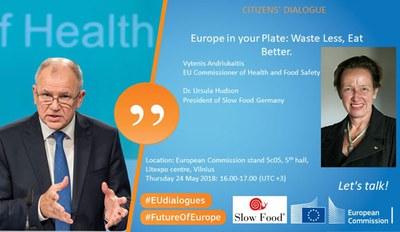 Ursula Hudson Ehrengast beim Bürgerdialog mit EU-Kommissar