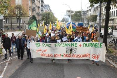Demonstration zum EU-Parlament: Mit den Subventionen die Bauernhöfe retten und die europäische Agrarwende umsetzen!
