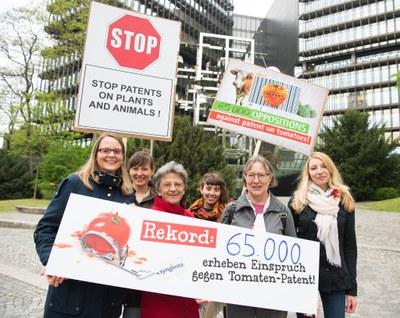 Protest gegen Syngenta Patent auf Tomaten