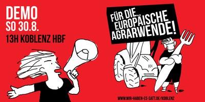 EU-Agrarminister*innenkonferenz in Koblenz: Demo für eine zukunftsfähige EU-Agrarreform