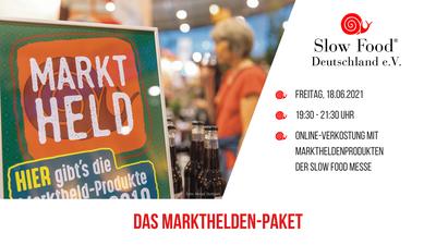 Vom Bier for future bis zum Bienenflüsterer: Online-Verkostung mit Marktheldenprodukten der Slow Food Messe