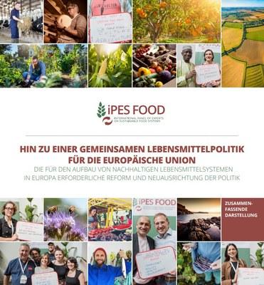 Cover IPES-Bericht Hin zu einer Gemeinsamen Lebensmittelpolitik für Europa