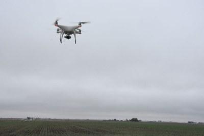 Drohne kommt in der Landwirtschaft zum Einsatz (c) M.Kunz
