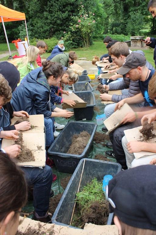 Teilnehmende erforschen den Boden (c) Slow Food.JPG